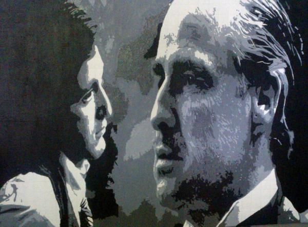 Al Pacino, Marlon Brando by simple-picture